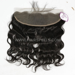 Lace Frontal Closure 13X4 Body Wave Virgin Human Hair Natural Color