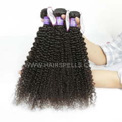 4 Bundles Cambodian Kinky Curly Hair 100% Unprocessed Virgin  Human Hair Natural Color