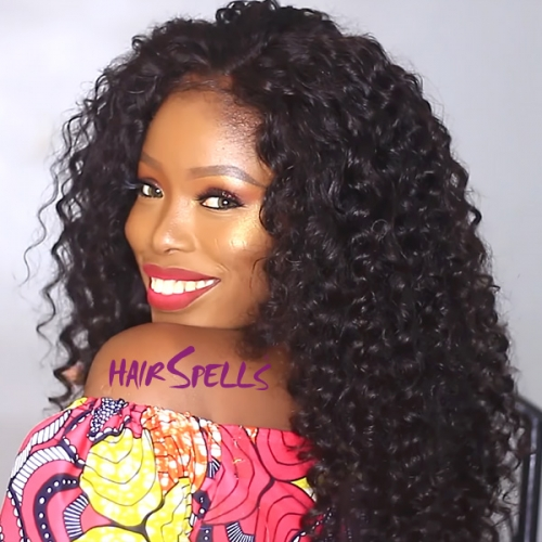 4 Bundles With 4*4 Lace Closure Peruvian Deep Wave Hair 100% Unprocessed Virgin Human Hair Natural Color