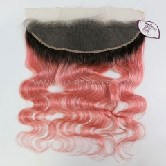 1B/Pink Color Lace Frontal Closure 13X4 Body Wave Virgin Human Hair