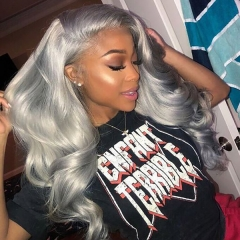 Ash Grey Synthetic Lace Front Wig