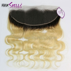 Ombre Blonde Color T1b/613 Lace Frontal Closure 13X4 Body Wave Hair Virgin Human Hair