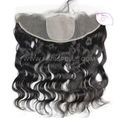 Silk Base Frontal Closure 13X4 Body Wave Virgin Human Hair Natural Color