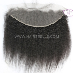 13*4 Lace Top Closure Pre Plucked Natural Hairline Kinky Straight Virgin Human Hair Natural Color