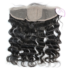 Silk Base Frontal Closure 13X4 Loose Wave Virgin Human Hair Natural Color