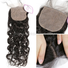 Silk Base Closure 4X4 Natural Wave Virgin Human Hair Natural Color