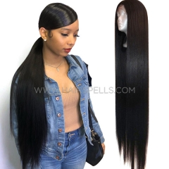 Straight Hair Bundle With Closure 4*4 Sewing wig Virgin Human Hair