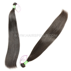 Double Drawn Weft 1 Bundle Brazilian Straight Hair 100% Unprocessed Virgin Human Hair Natural Color