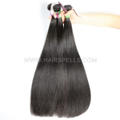 Double Drawn Weft 3 Bundles Brazilian Straight Hair Virgin Human Hair