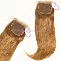 Color 6 Lace Top Closure Size 4x4 Straight Hair Virgin Human Hair