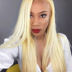 Color 613 Wig 180% density  Virgin Human Hair Straight Lace Frontal Wig