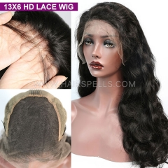 HD Lace Wig 13X6 Front Wig 130% Density Virgin Human Hair Natural Color