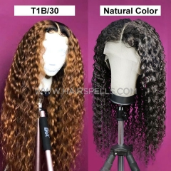 180% Density 1B/30 Ombre Color Natural Color Wig Deep Parting 13*6 Lace Frontal Wig Loose Deep Wavy Virgin Human Hair