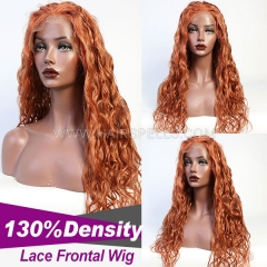 5 Days Ready For Color Wigs #130 Wig 130% density Virgin Human Hair Natural Wave Lace Frontal Wig