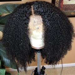High Density Mink Curly Pre Plucked Pre Bleached Sewin Lace Wigs Closure Wigs Human Hair Wigs With Elastic Band Around 7 Days Customize