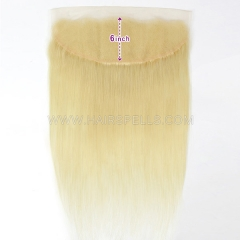 13x6 Knots Bleached 613 Blonde Color Lace Frontals Straight Body Wave Virgin Human Hair