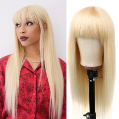 613 Color Full Machine Made Wigs With Bang 100% Virgin Human Hair Not Lace Wigs