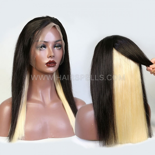 180% Hidden Glam Bluntcut Virgin Human Hair Straight Lace Frontal Wig